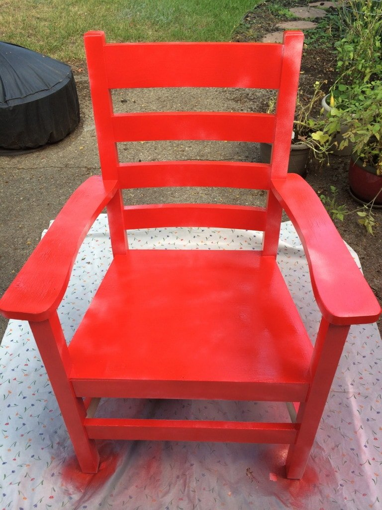 Spray Painted Chair