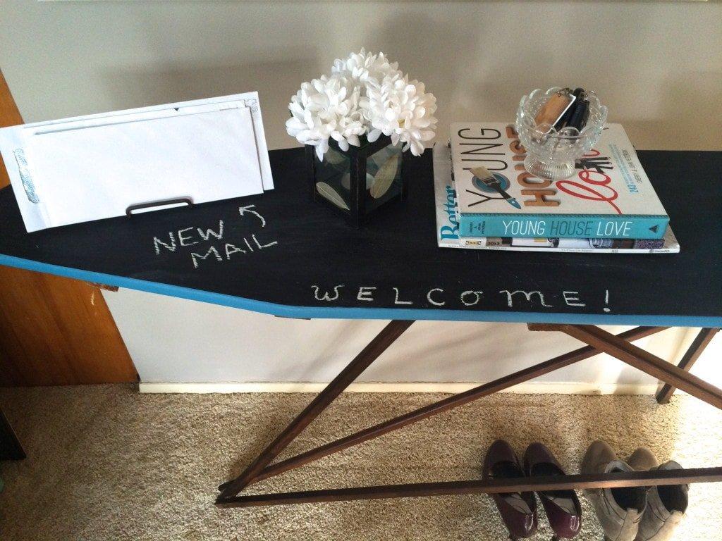 chalkboard ironing board