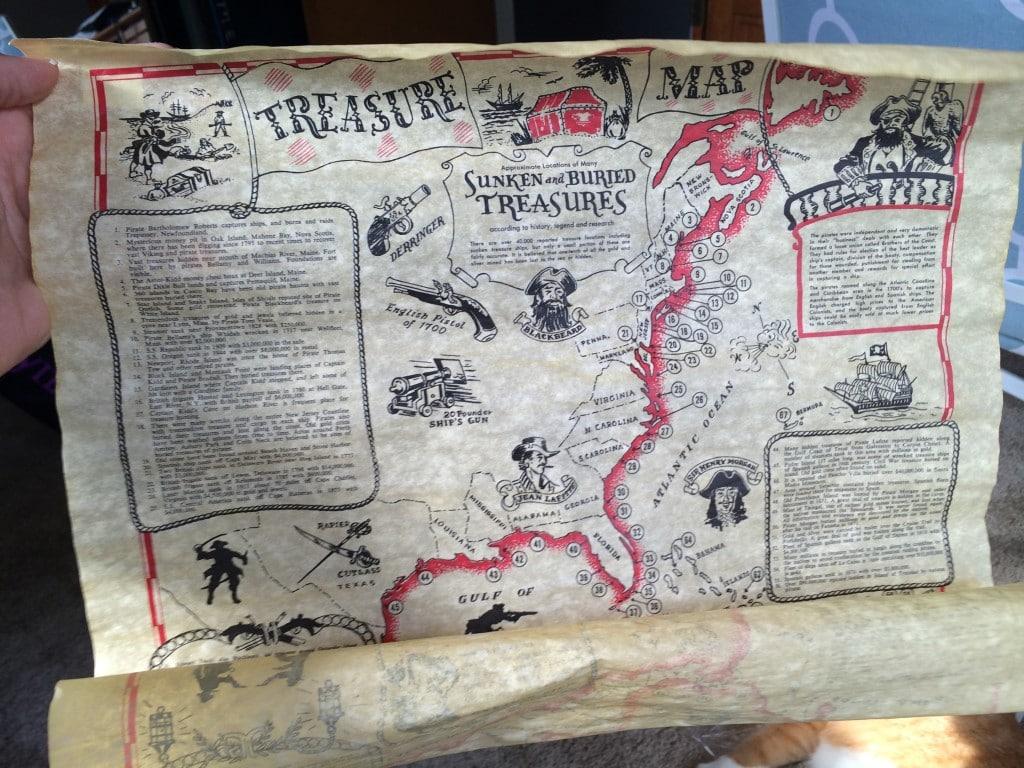 gallery wall update treasure map