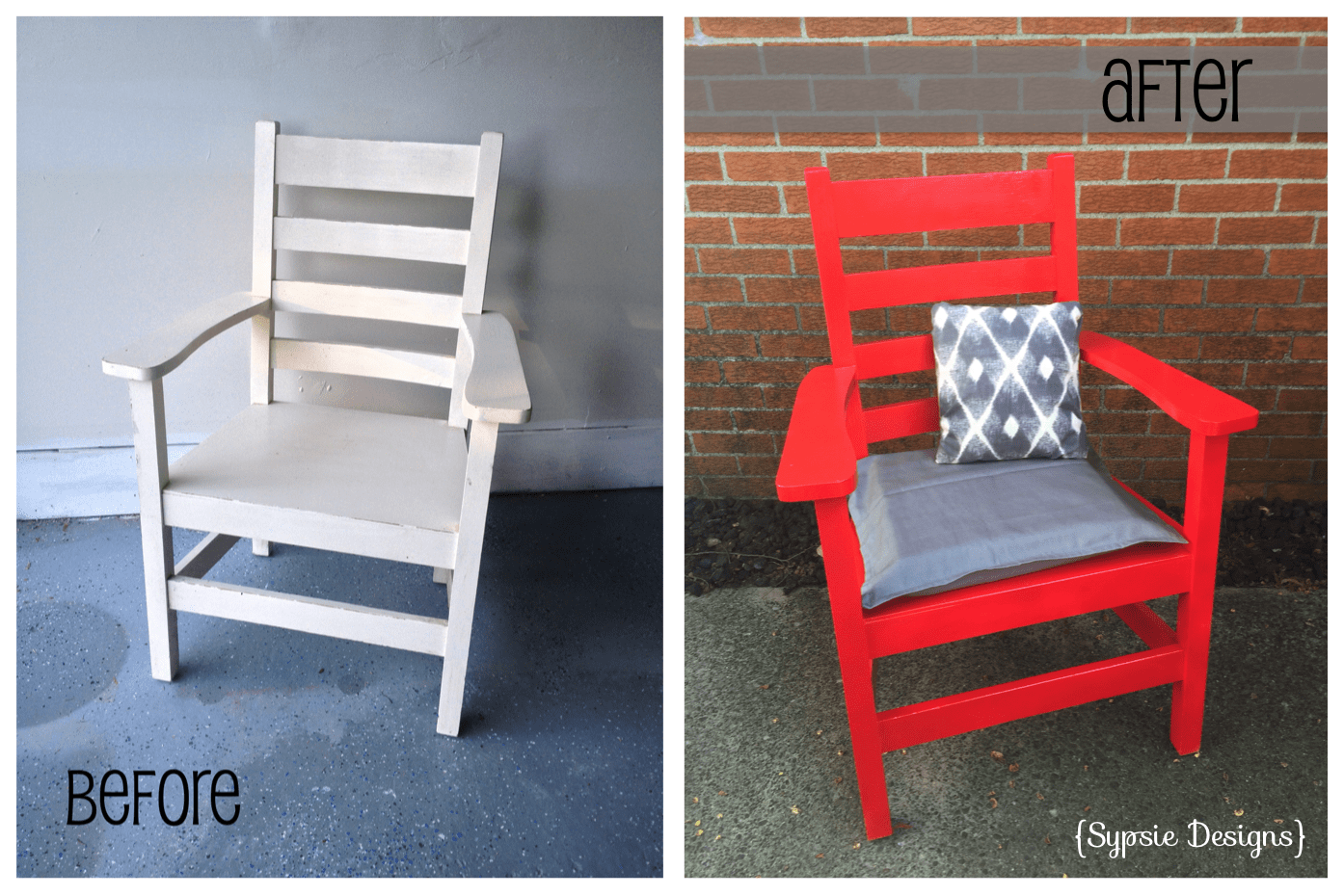 B & A: Old White Chair