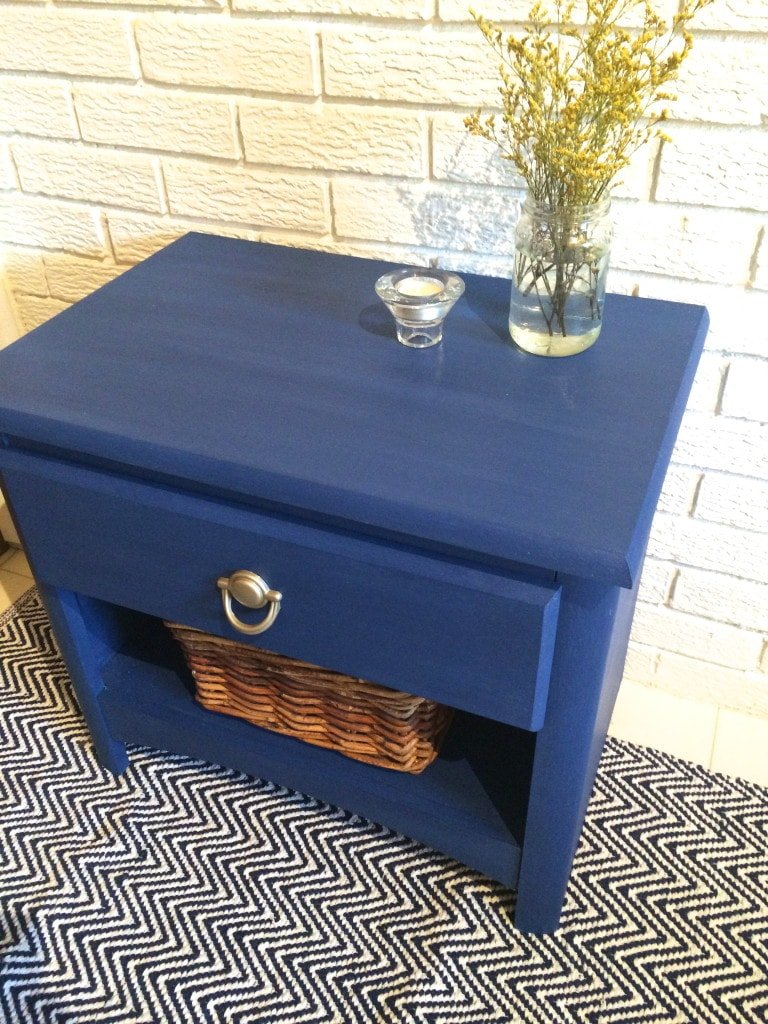 chalk paint nightstand