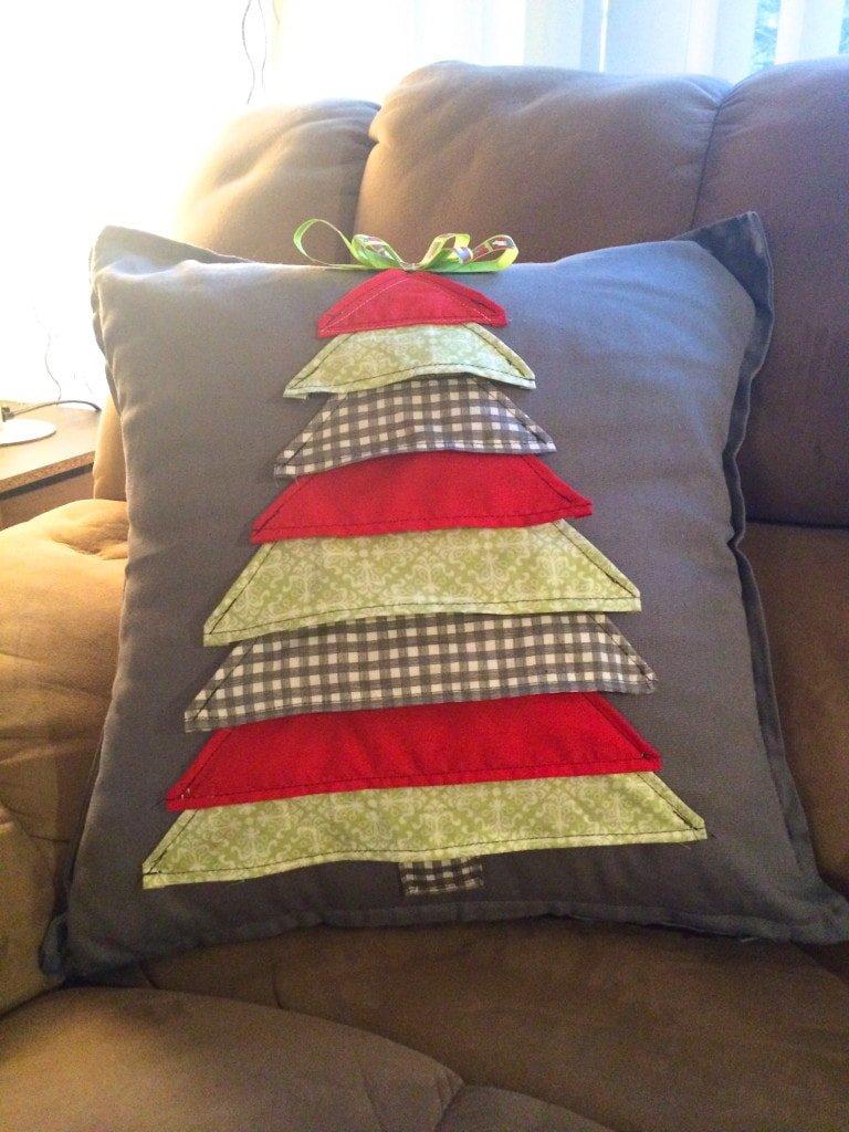 DIY $3 Christmas Tree Pillow - Sypsie Designs