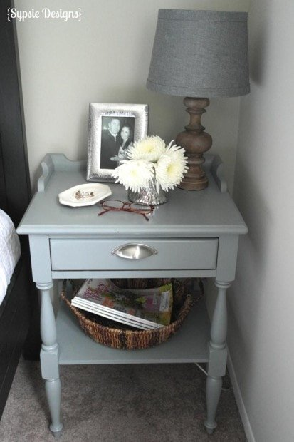 Painted Gray Nightstand