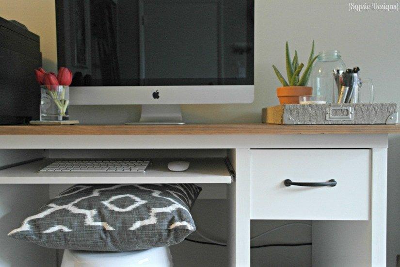 IKEA Desk Makeover & Homemade Chalk Paint