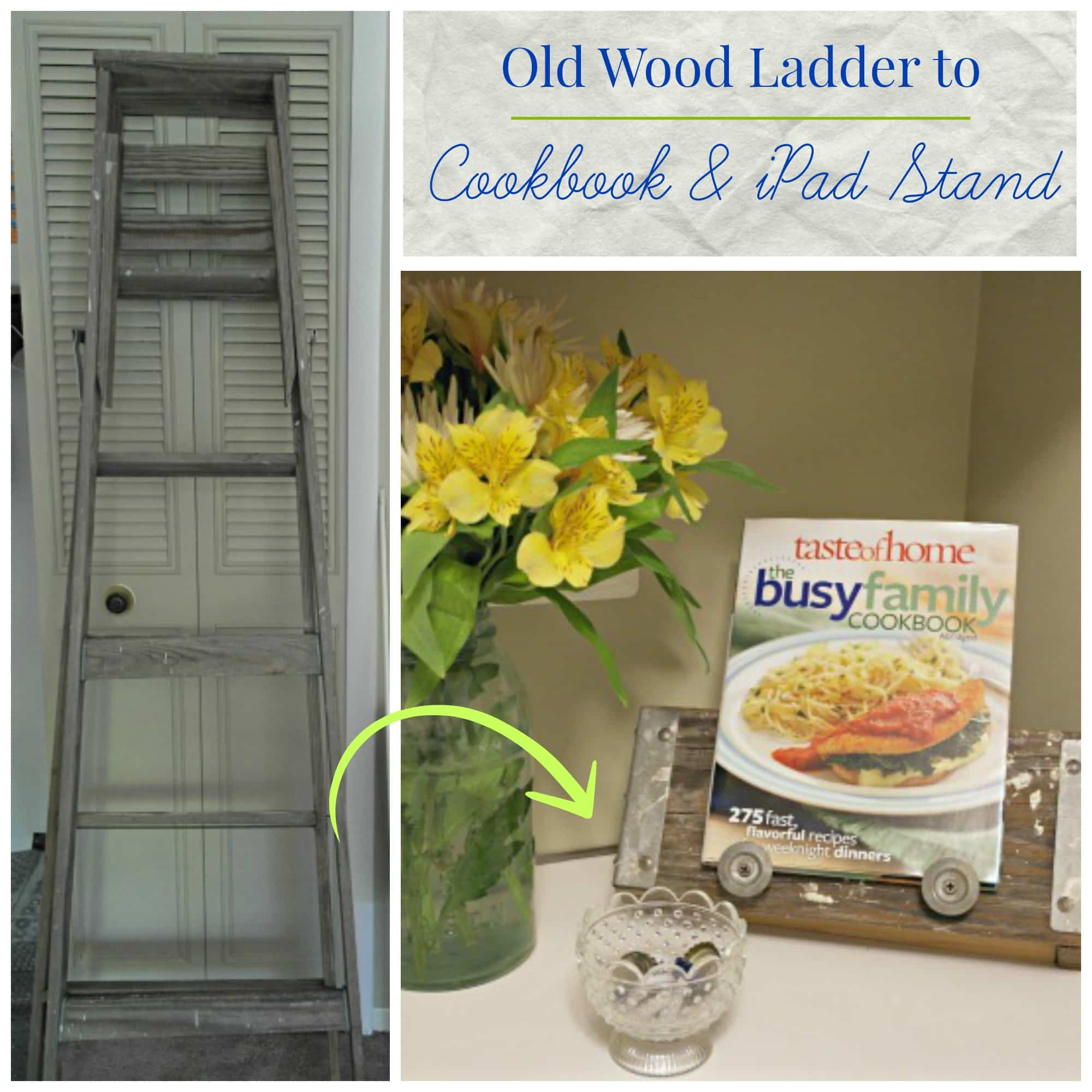 Old Ladder to Cookbook Stand