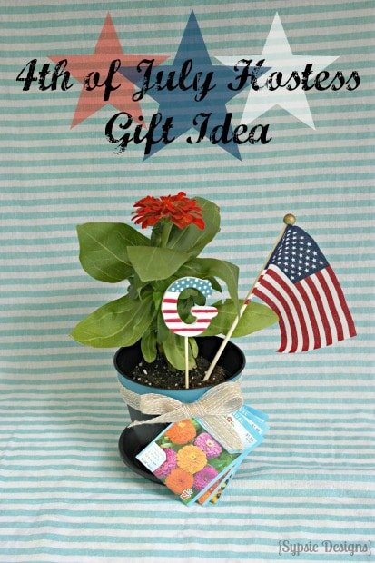 Easy 4th of July Hostess Gift Idea