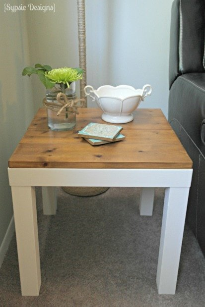 Rustic Side Table Makeover