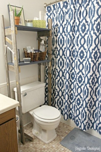 diy over the toilet bathroom organizer shelves sypsie