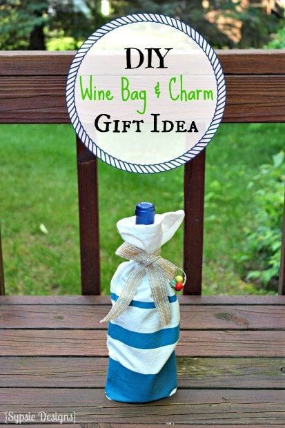 DIY Wine Bag & Charms Gift