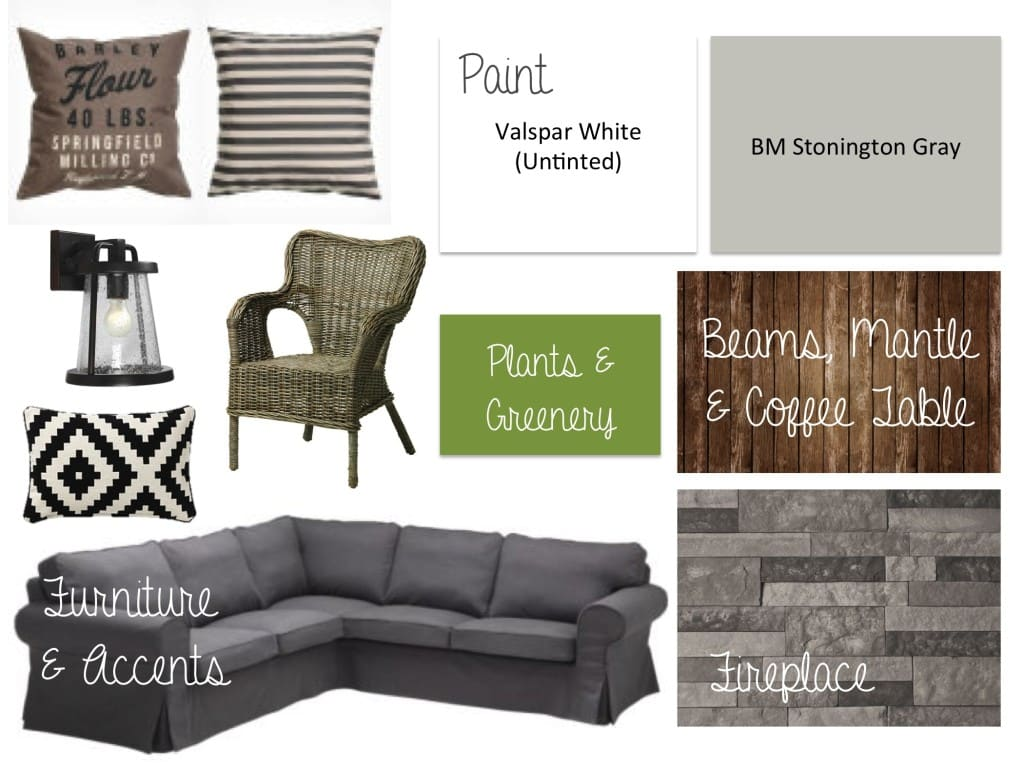 Family Room Inspiration Mood Board - Sypsie Designs