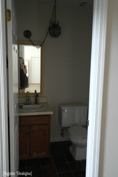 Half Bath Makeover - The Before - Sypsie.com