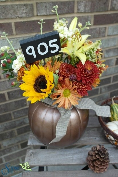 Plastic Pumpkin to Halloween Planter - Sypsie Designs