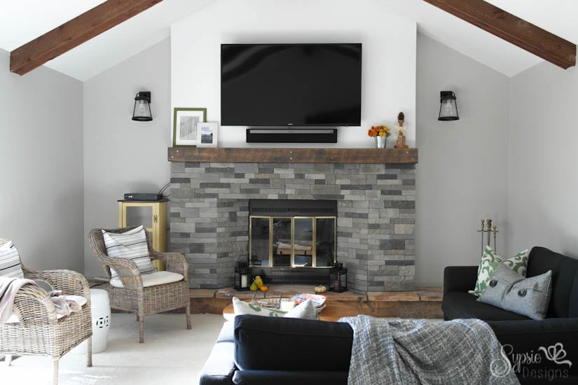 Cozy Fireplace Makeover -