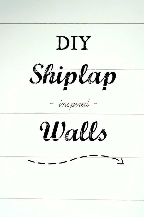 DIY Shiplap Inspired Wall Tutorial: An Easy and Inexpensive Project! - Sypsie Designs