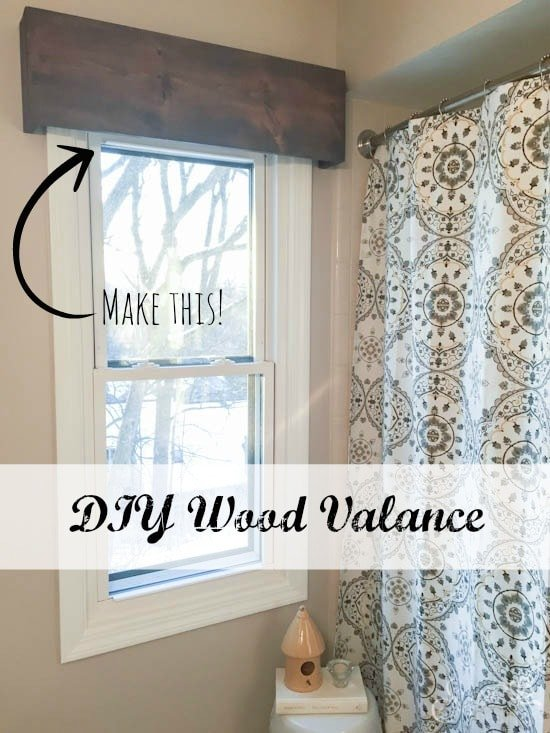 Wood valance sypsie designs Window treatment ideas to make