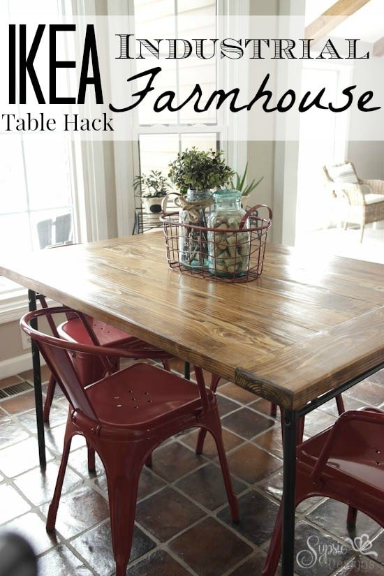 Ikea industrial meets farmhouse table hack sypsie designs workwithnaturefo