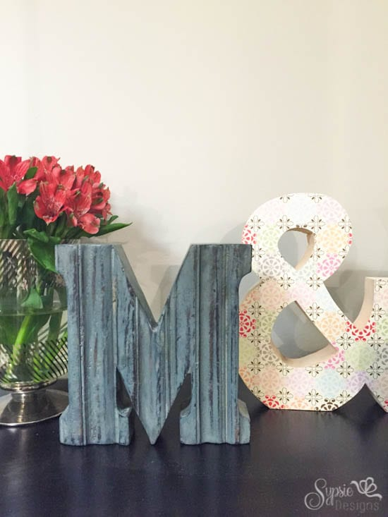 Easy Valentines Wood Ampersand DIY - Sypsie Designs