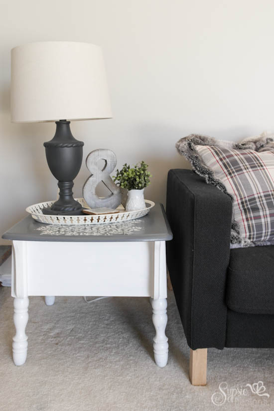 Gray Thrifted Lamp Makeover