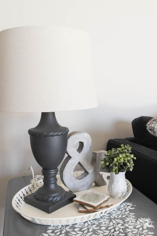 Thrifted Lamp Makeover - Sypsie Designs