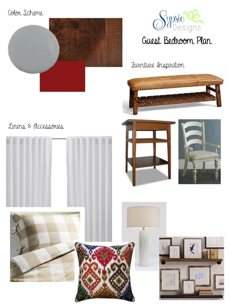 ORC Guest Bedroom Inspiration Board