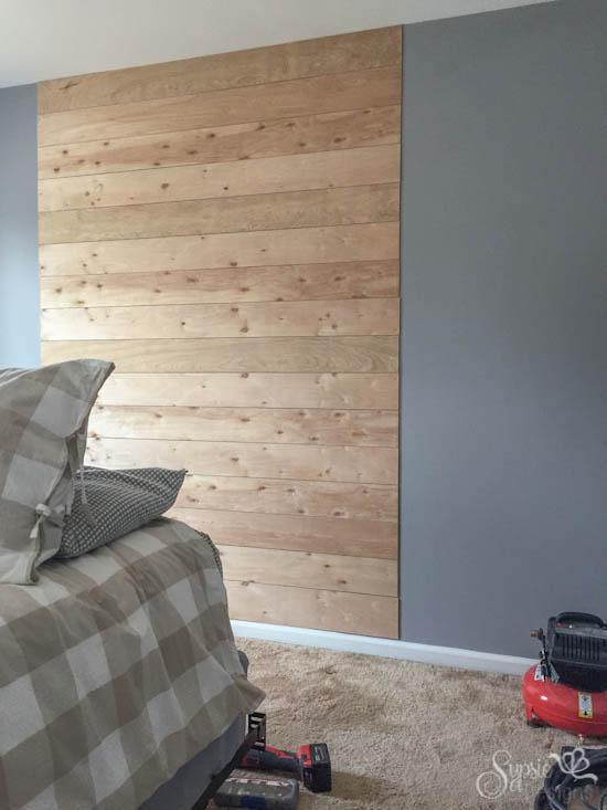 Wood Headboard Wall Treatment - Sypsie Designs