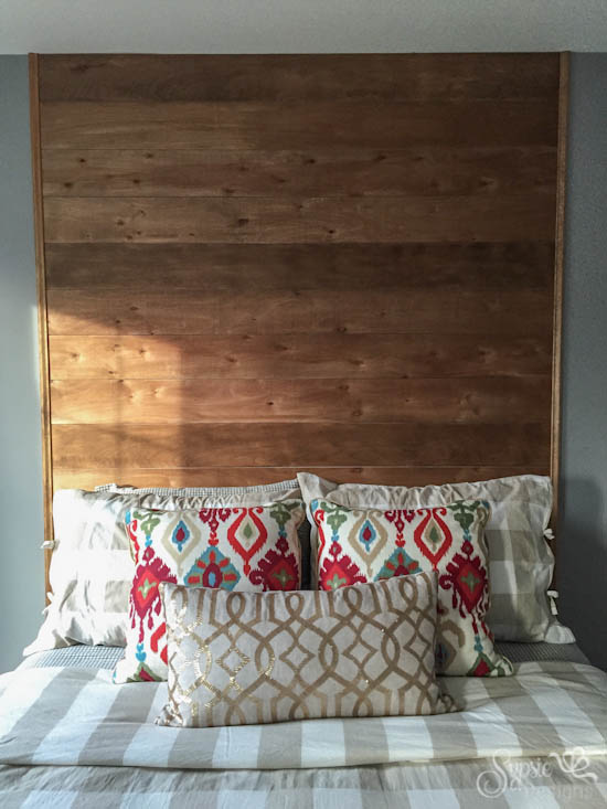 One Room Challenge Week 3: Wood Headboard Accent Wall