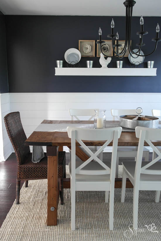 Dining Room Reveal & DIY Farmhouse Table - Sypsie Designs