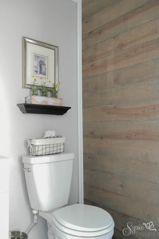 Half Bath Makeover (With Planked Wall!) - Sypsie.com