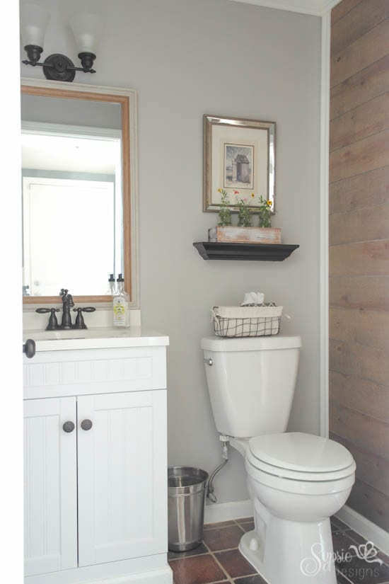 Plank Wall & Half Bath Reveal
