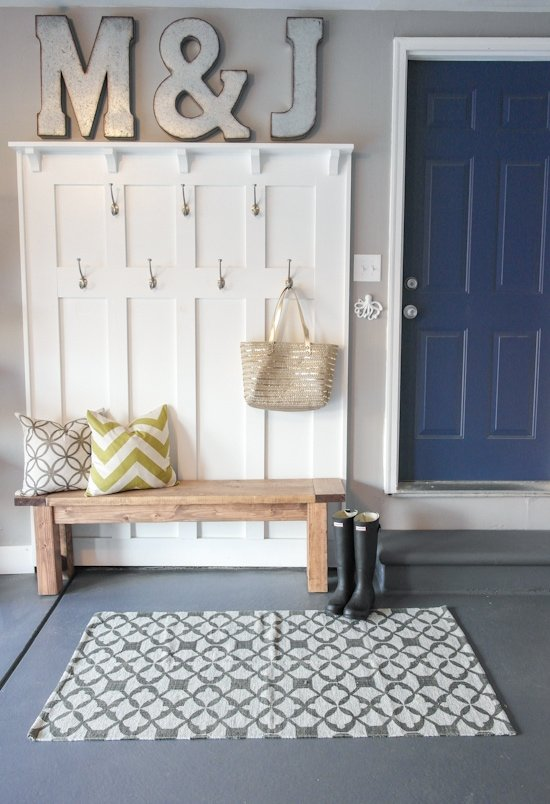 Garage Mudroom Makeover - One Room Challenge - Sypsie.com