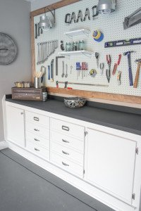 Garage Makeover - One Room Challenge - Sypsie.com
