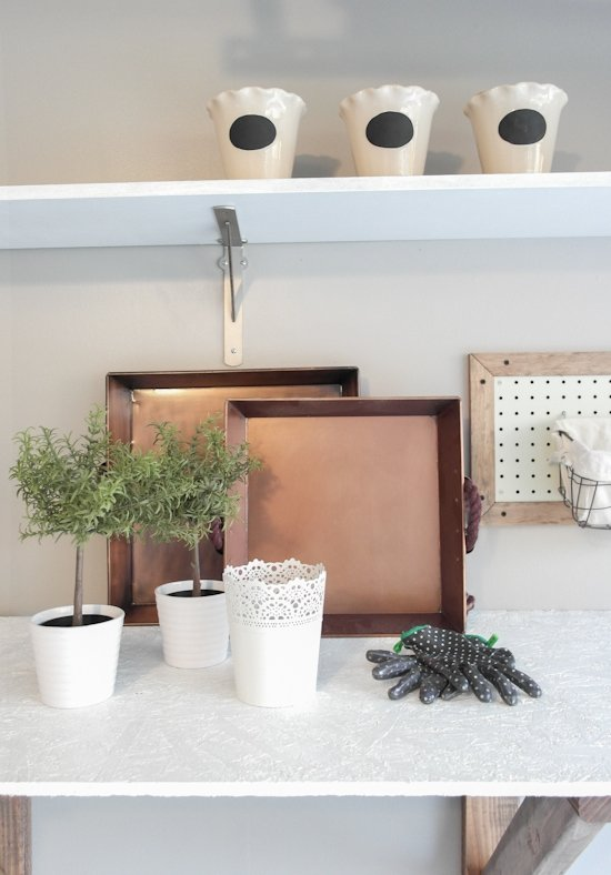 Garage Potting Bench Makeover - One Room Challenge - Sypsie.com