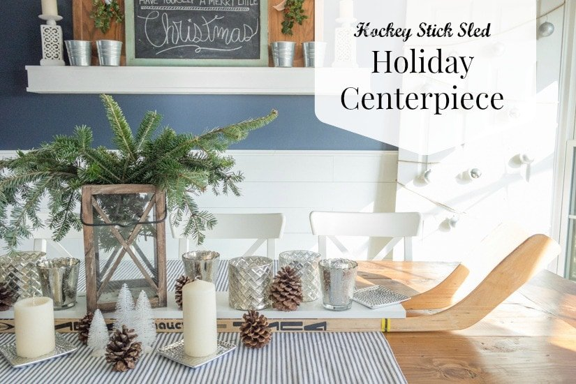 Holiday Center Piece Idea - Hockey Stick Sled - Sypsie.com