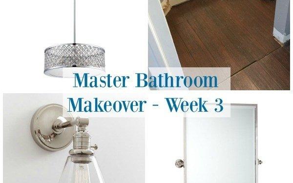 Master Bathroom Makeover - Week 3 - Sypsie.com