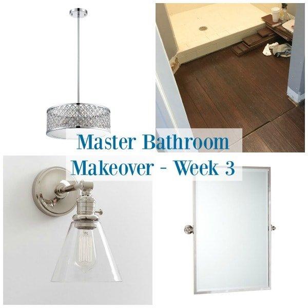 Master Bathroom Makeover - One Room Challenge Week 3 - Sypsie.com