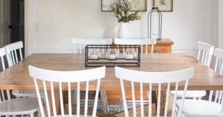 White Farmhouse Dining Room Reveal - Sypsie.com