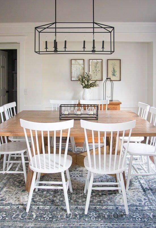 White Farmhouse Dining Room Reveal - Sypsie.com