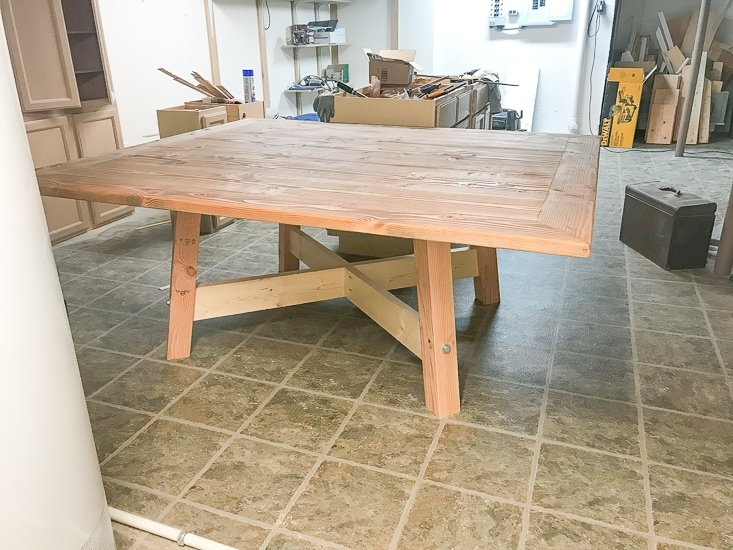 DIY Square Farmhouse Dining Table - Sypsie.com