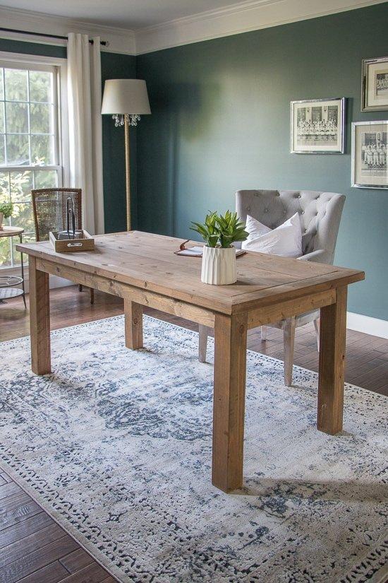 Formal Living Room to Home Office Makeover - Sypsie.com