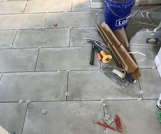 Master Bathroom Floor Progress