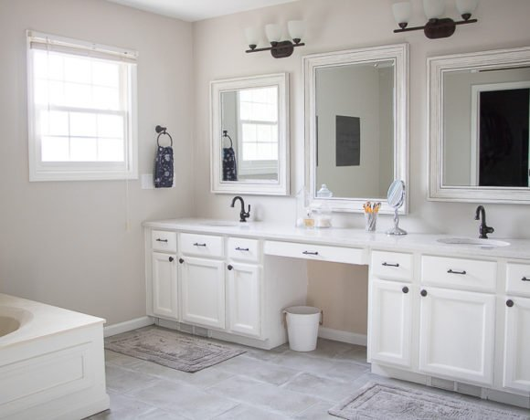 Easy Master Bathroom Updates (And Reveal Photo!)