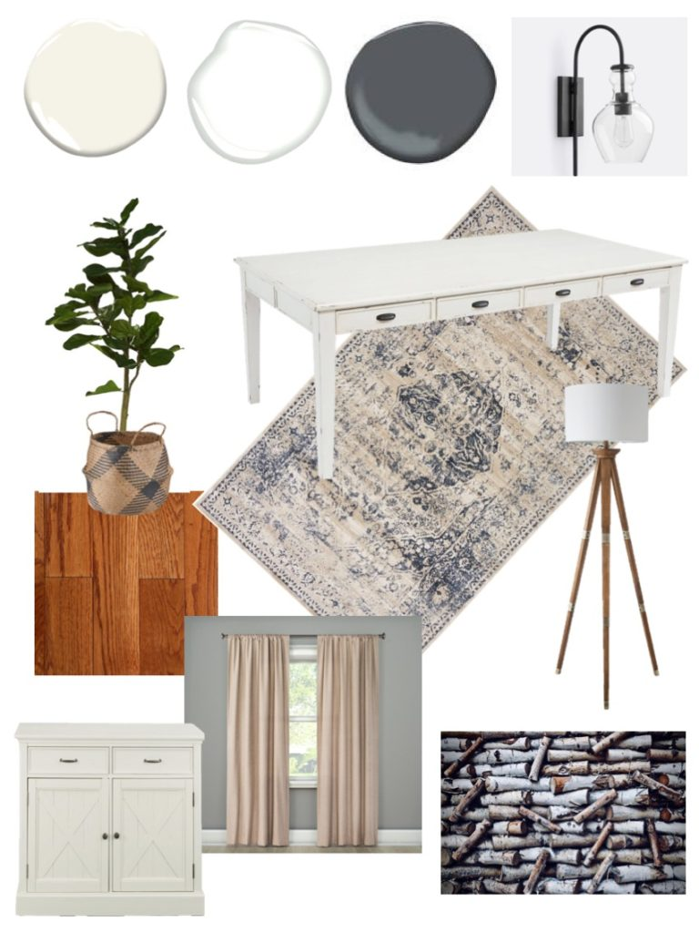 Neutral Home Office Mood Board - Sypsie.com