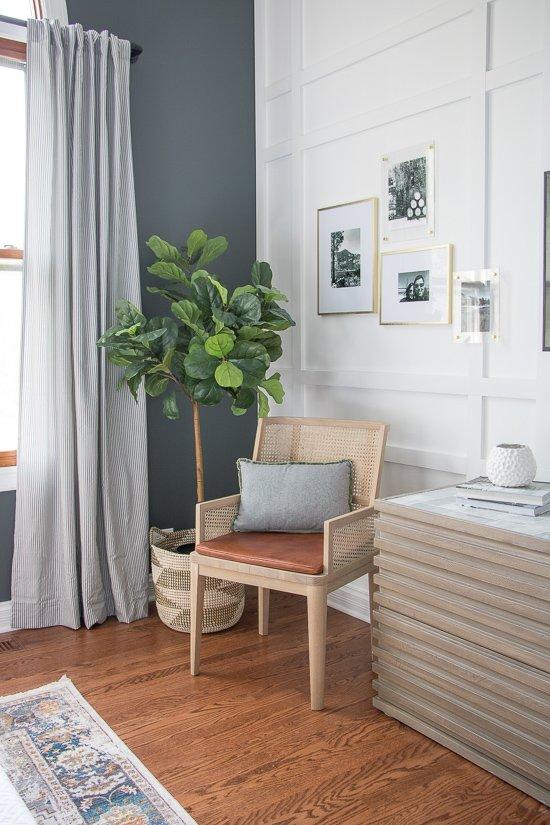 Den Makeover - Plaid Wall - Sypsie.com