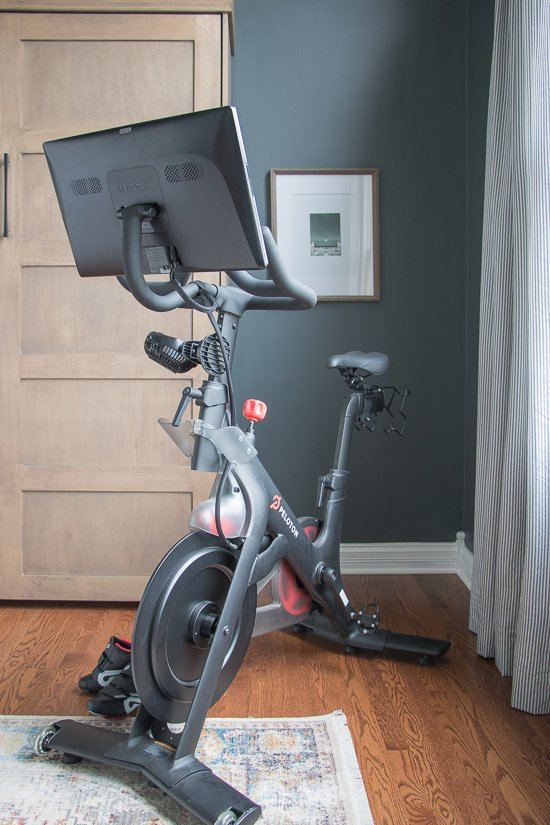 Den Makeover - Peloton Workout Room - Sypsie.com